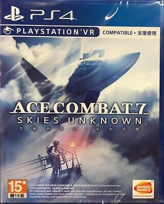 Ace Combat 7: Skies Unknown Chinese subtitle PS4 NEW VR Compatible
