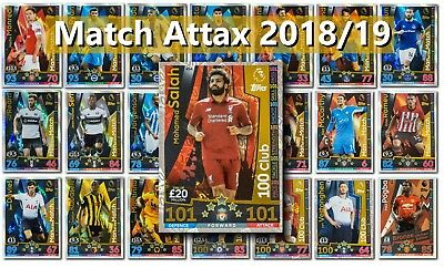 Match Attax 2018/19 18/19 Man of the Match 100 Clubs Limited Edition cards 101