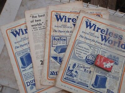 Wireless world  May  1932   illustrated 4 issues