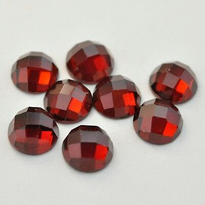 Rose Cut Red Garnet Round Cut Loose Gemstone AAA Color Calibrated