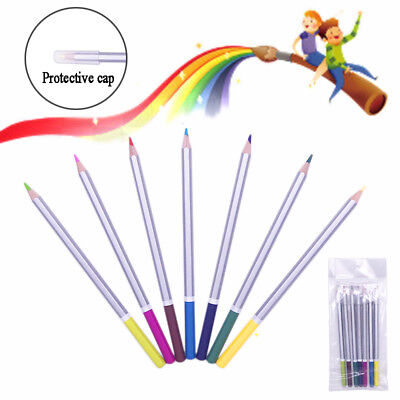 Rainbow suit 7 clolrs Water Color Wooden Pencil Drawing Pencils Water Soluble Ar