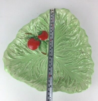 Vintage Tomato Green Leaf Carltonware Collectable Ceramic Plate