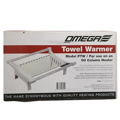 Omega Towel Warmer TRAY PTW for Use on an Oil Column Heater