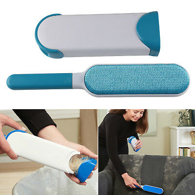 Reusable Pet Hair Fur Lint Grooming Remover Brush Clothes Fabric Self-Cleaning