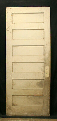"""2 available 32""""x79"""" Antique Vintage Interior Solid Wood Wooden Door 6 Flat Panel"""