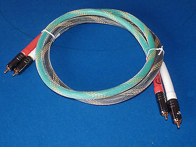 High End Audio RCA Interconnect Cable. 1.5m Pair.