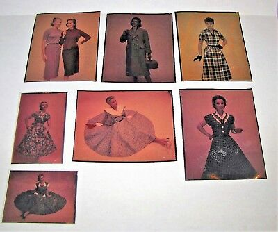 1950's Woman's Fashion Dress Photo Negative Lot by Leigh Charell Photograph