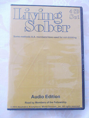 Alcoholics Anonymous - Living Sober - Audio Edition - 4 c.d.'s.