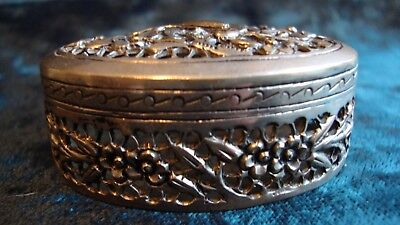 Chinese silver cricket / pill box, character marks to base