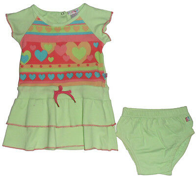Size 0 - Bright Bots Baby Girls Dress with Romper Pants in Green