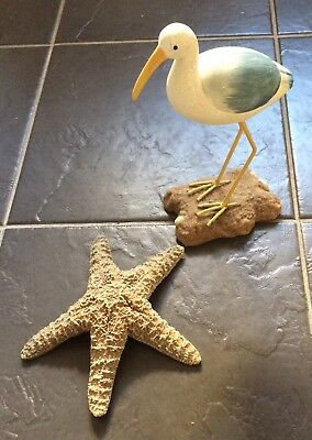 Bird/Starfish Resin Ornaments.. Ideal For Bathroom Decoration