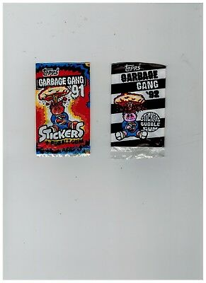 Topps Sticker Packets  Garbage Gang 91 & 92 opened