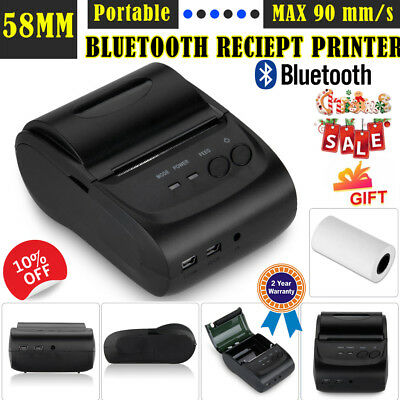 58mm Mini Compact USB Bluetooth Wireless Thermal Receipt Printer ESC/POS Android