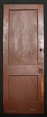 "9 avail 30""W Antique Vintage Interior Solid Wood Wooden Door Flat Recessed Panel"