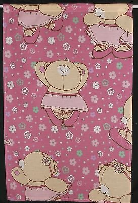 "SMALL CURTAIN 18""w x 28"" Pink FOREVER FRIENDS Ballerina BN +Tie Wendyhouse Cabin"