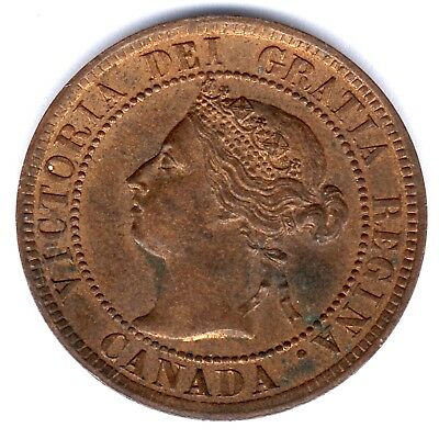 Canada, One Cents, 1894, K.M.#7, vz