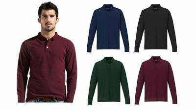 New Mens Polo Shirt Short Sleeve Plain Pique Top Designer Style Fit Tee T-Shirt