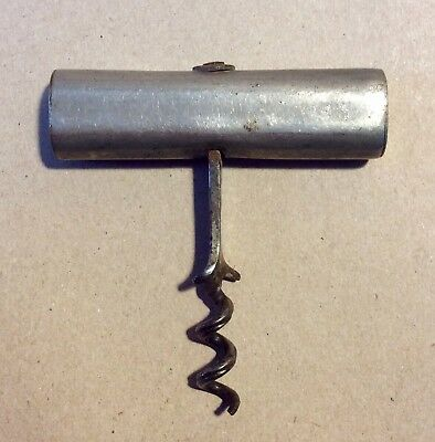 "Unusual Vintage Straight Pull Corkscrew, Marked ""Viarengo Patent"""