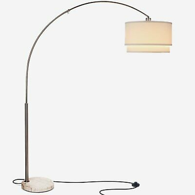 Mason - LED Arc Floor Lamp with Marble Base, Tall Standing, Modern