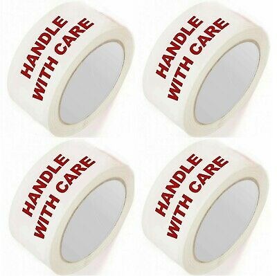 12 Rolls Fragile Handle With Care Printed Glass Parcel Packaging Tape 48MM X66M