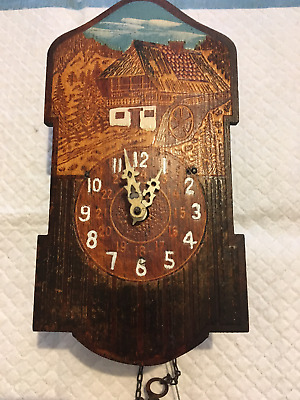 black forest style novelty clock