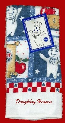 NWT 1998 Pillsbury Doughboy All American Boy Dish Cloth - $9.99 FREE SHIPPING