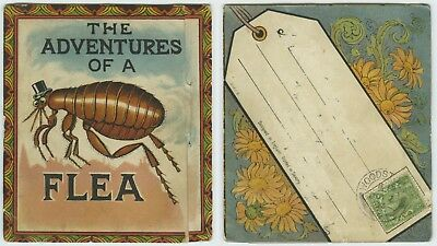 Mail Novelty Postcard with concertina insert - The Adventures of a Flea. c.1910