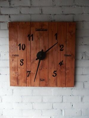 Giant wall Clock / Vintage timber clock. Fully recycled timber Large Clock