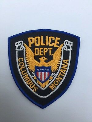 Columbus Police, Montana old cheesecloth shoulder patch
