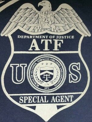 ATF Department of Justice T-Shirt Sz L NEW NYPD