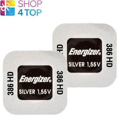2 Energizer 386Hd Sr1142Sw Batteries Silver 1.55V Watch Battery Exp 2023 New