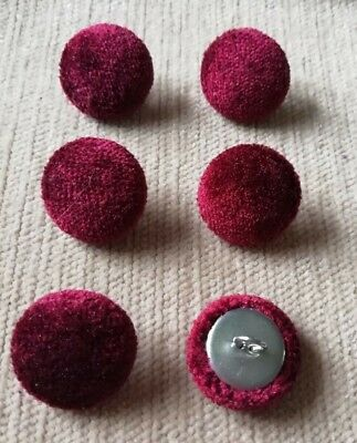 Crushed Velvet 36L//23mm Deep Purple Upholstery Fabric Covered Buttons Craft