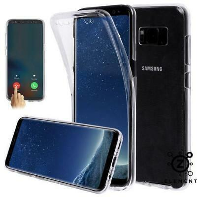Samsung Galaxy S8 S9 S8+ S9+ PLUS  360° Case Cover Clear Gel Silicone Shockproof