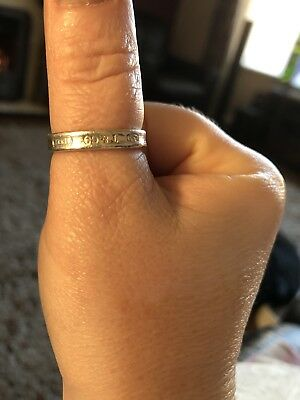 Genuine Tiffany & Co Sterling Silver Ring