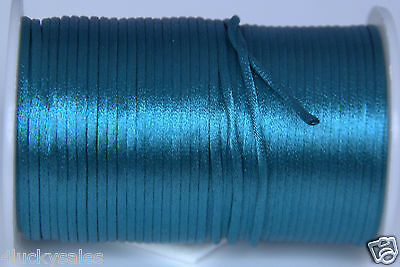 hot 10yard Indigo 2MM Rattail Satin Cord Macrame Beading Nylon Chinese knot rope