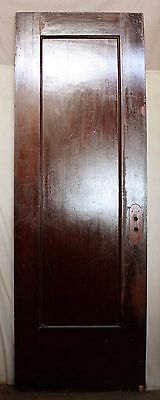 "28""x82.5""x1.75 Antique Vintage Solid Wood Wooden Interior Door Single Flat Panel"