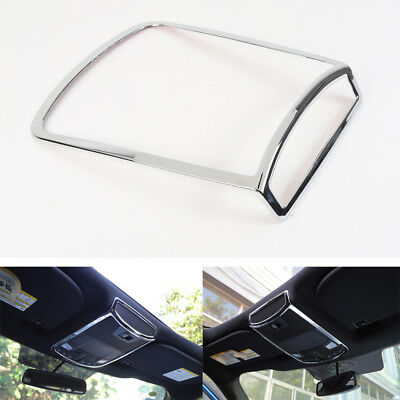 1PC ABS Chrome Front Reading Light Lamp Cover Trim For Ford F-150 2016 2017 2018