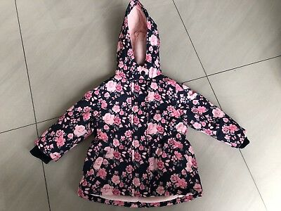 Baby Girl Floral Winter Coat 12-18 Months