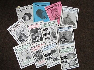5 FREE REED and 12 CONCERTINA & SQUEEZEBOX MAGAZINES in excellent condition