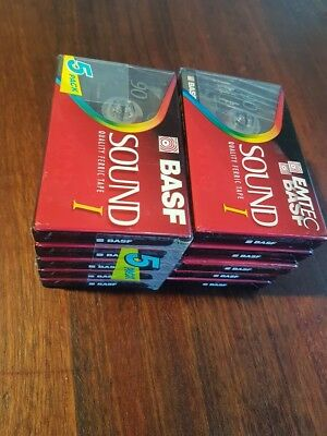 10 x BASF Sound I - 90 Minutes - Blank Cassette Tapes - Sealed