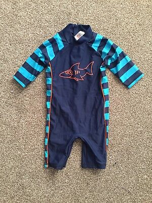 Boys Swimsuit Swimming All In One Costume Age 9-12 Months