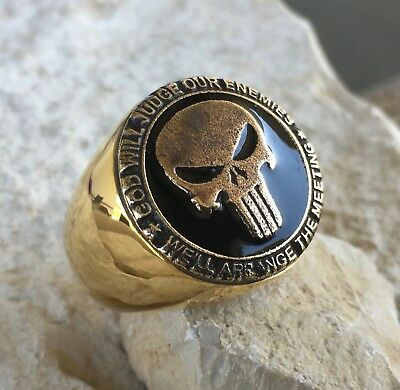 Us Army Usa Punisher Ring Totenkopf Usmc Bague Chevaliere Pin Navy Seals Army