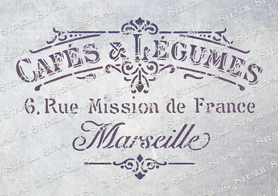 French Cafe STENCIL 4 sizes CL Vintage Furniture Shabby Chic, SUPERIOR 250 MYLAR