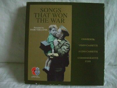 Songs That Won The War  , Video & Audio Cassette & Commemorative Coin  Box Set