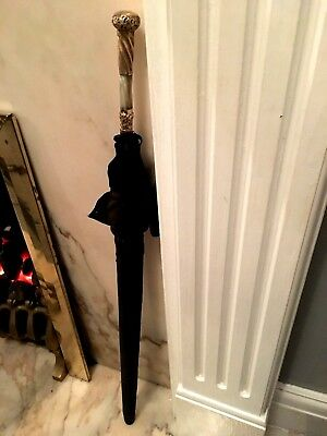 Antique 19thC Victorian Parasol/Umbrella Hand Carved Handle with18ct Gold pg