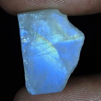 19.75Cts.100% Natural  Rainbow Moonstone Rough Fancy Cab Rare Loose Gemstone