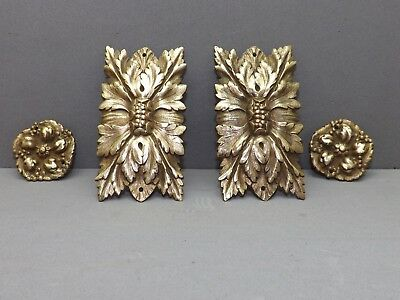 French Antiquity 4 beautiful old bronze decorations