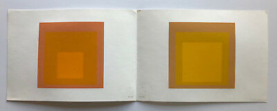 Josef Albers Hommage to the Square Double orange screenprint by Ives Sillman