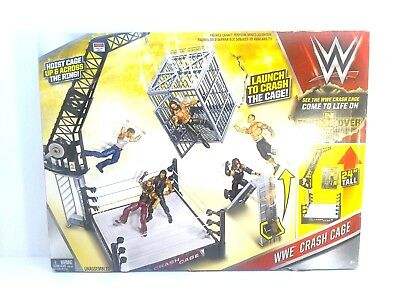 WWE Crash Cage Play Set Wrestling Ring Mattel Action Figures New In Box
