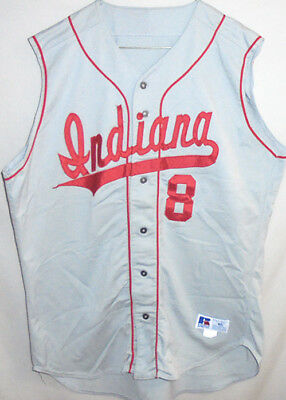 Rare -Indiana University Hoosiers- Vintage Game-Used College Baseball Jersey